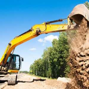 Compact Excavators Are Used for Construction Projects