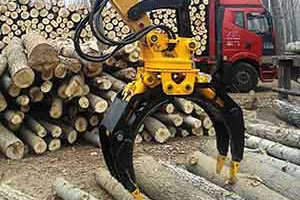 Best Log Grapple for Excavators for sale in China, hydraulic and rotating grabs