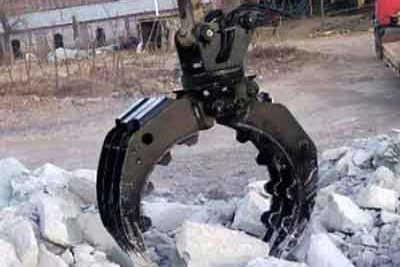 Rock/stone grapple,rotating Hydraulic stone/rock grab for excavator 1.5-90ton in China