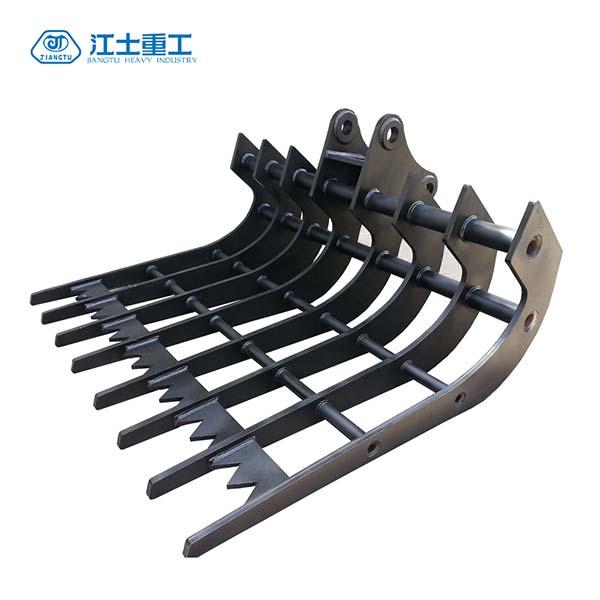 Best-excavator-stick-rake-JIANGTU-excavator-rake-attachment