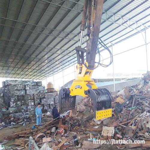 Handling-and-demolition-grapple-for-cat-excavatorJIANGTU-Grapple-Attachments