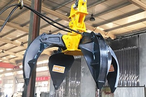 Hydraulic-orange-peel-grab-scrap-grapple-for-excavators