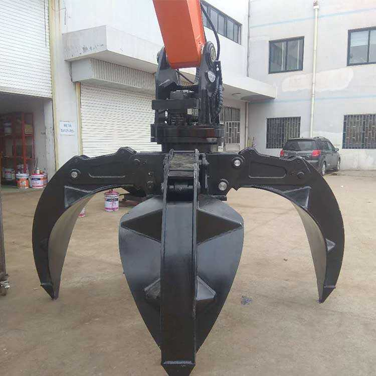 hydraulic excavator rotational orange peel scrap grab for sale