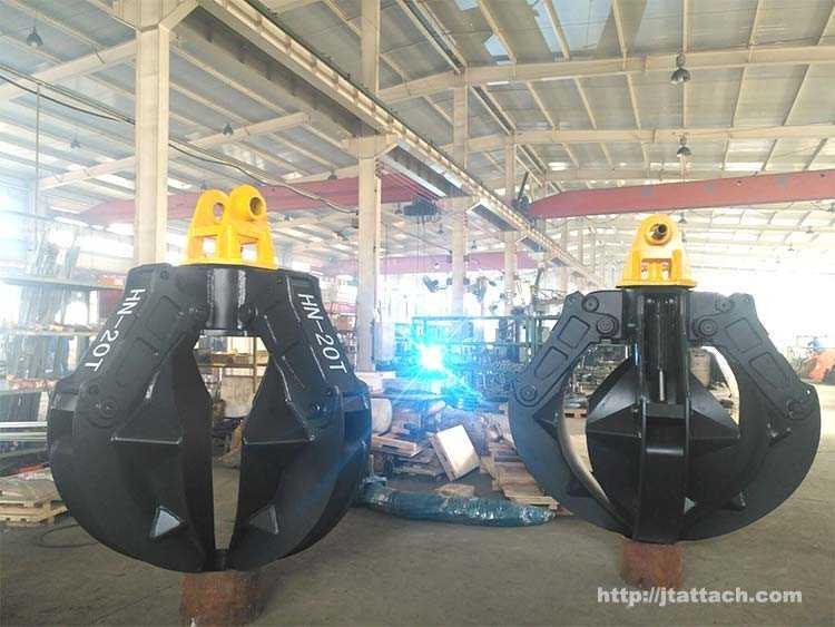 excavator hydraulic orange peel grabber manufacturer
