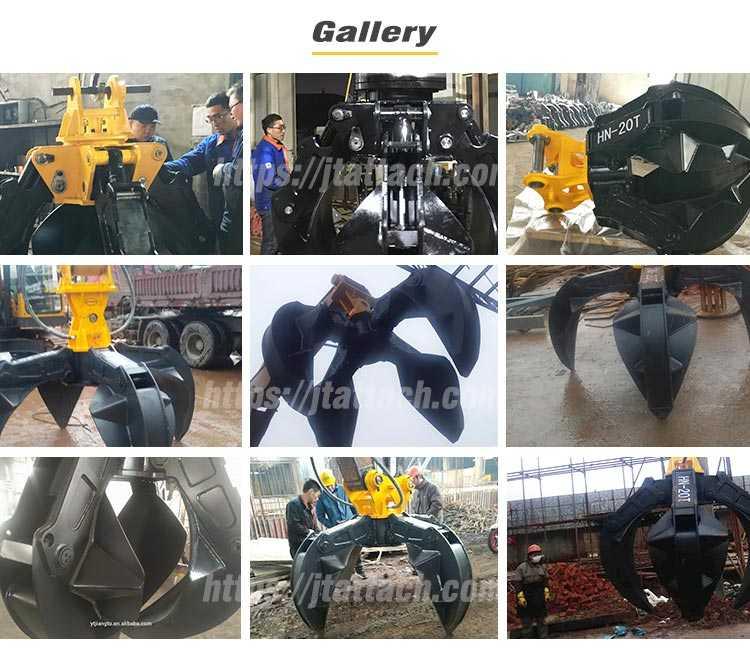 high quality scrap grab orange peel grapple excavator gallery