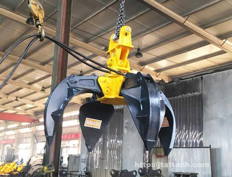 hydraulic scrap grab orange peel grapple production/