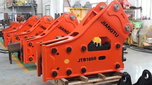 Side Type Excavator Rock Breaker , Hydraulic Breakers For Excavators 0.8-60 Tonne