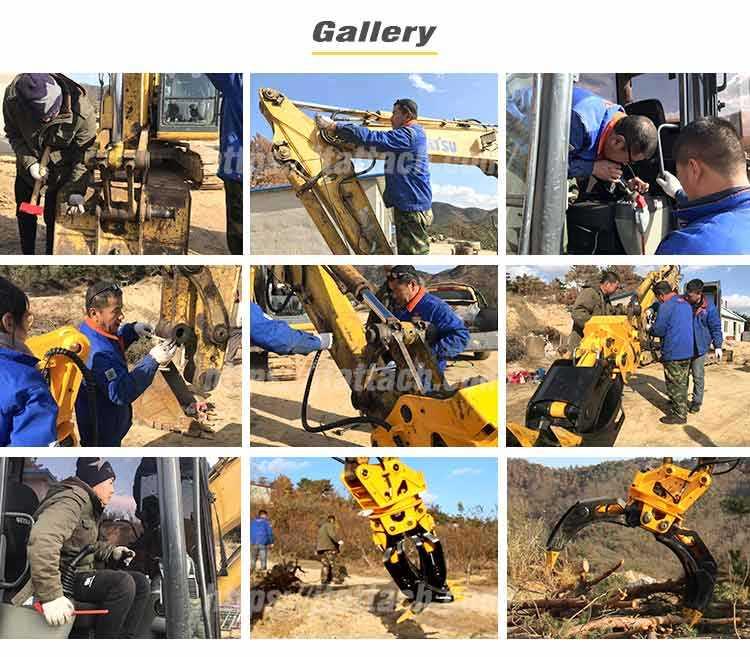 Excavator grapple installation gallery