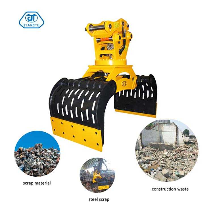 hydraulic-demolition-grapple-for-sorting-steel-scrap-material-construction-waste