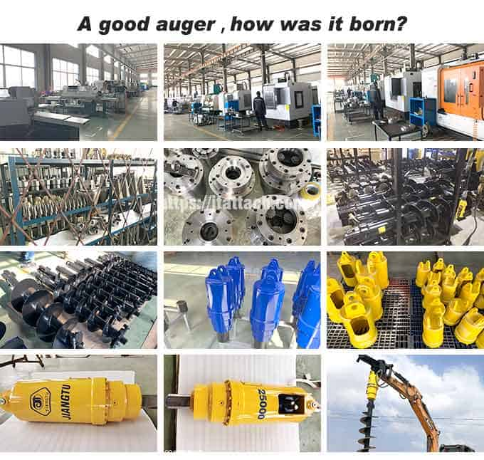 hydraulic-earth-auger-for-excavator-production-process-JIANGTU-excavator-auger-manufacturer