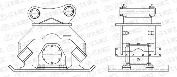 hydraulic-plate-compactor-drawing