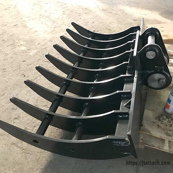 mini-excavator-rake-JIANGTU-mini-excavator-rake-attachment