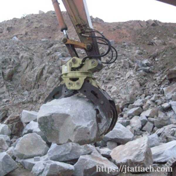 rock-and-stone-grabber,rotating-stone-grapple-for-5ton-excavator
