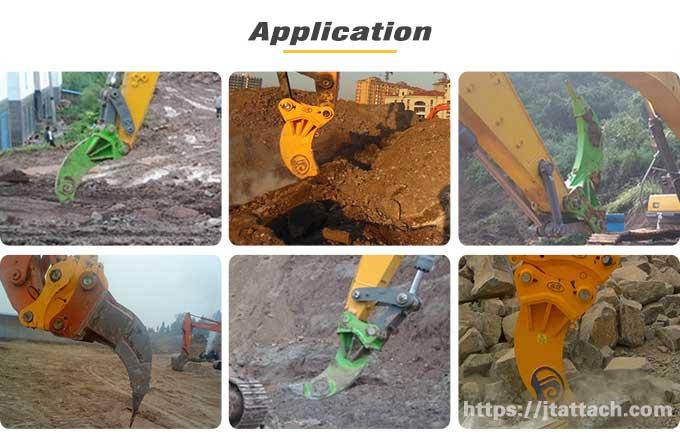 rock-ripper-bucket-mini-excavator-ripper-tooth-application-JIANGTU-excavator-attachment