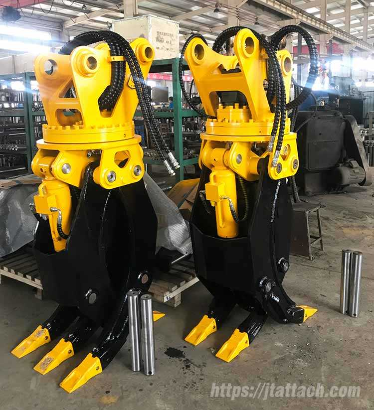 excavator rotating woodstone grapple for sale|JIANGTU Attachments