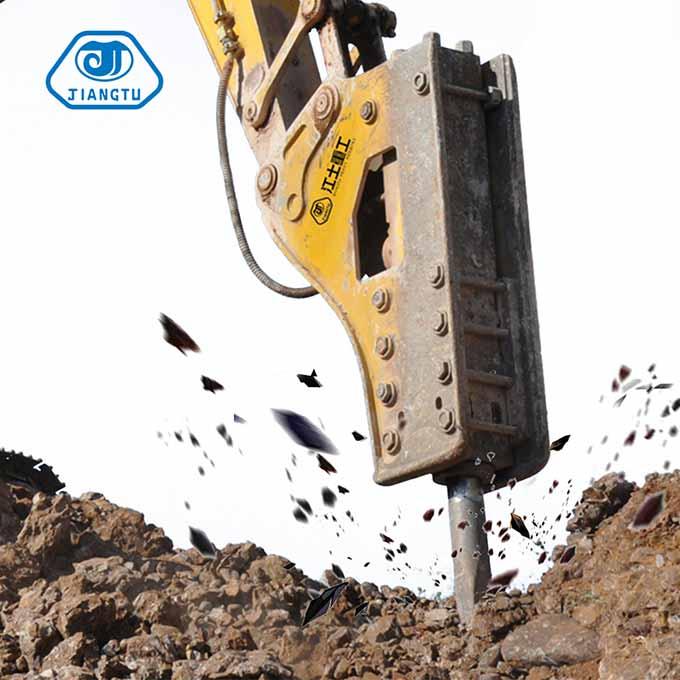 hydraulic rock breakers for excavators at demolition work