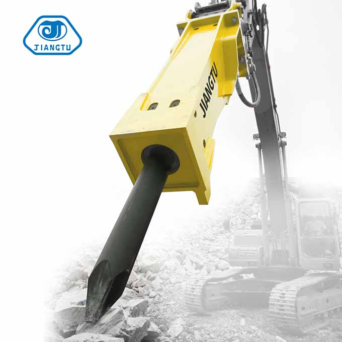 hydraulic breakers for excavators in mining applications