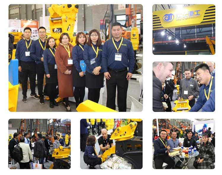exbition of JIANGTU excavator attachments