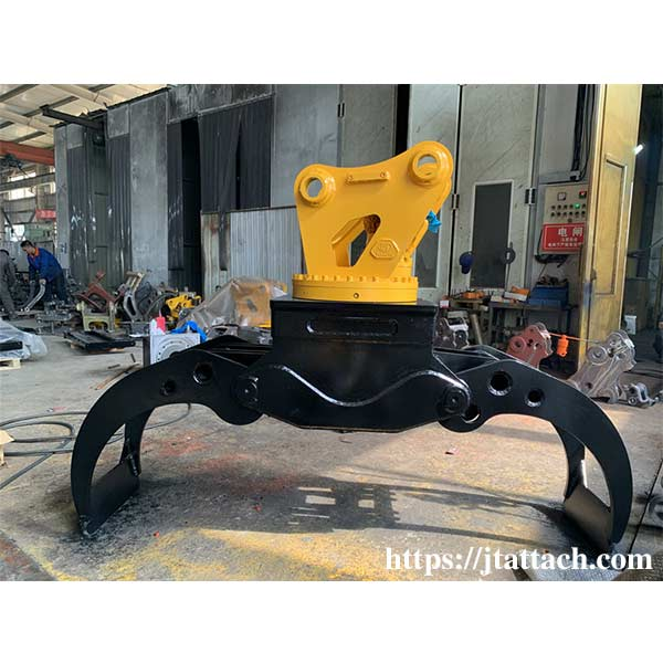 Construction-Machinery-Parts-Rotating-light-wood-Grapple