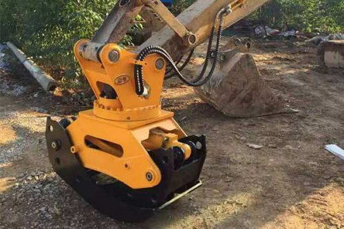 Hydraulic-rotating-wood-grapple-grab-for-excavators