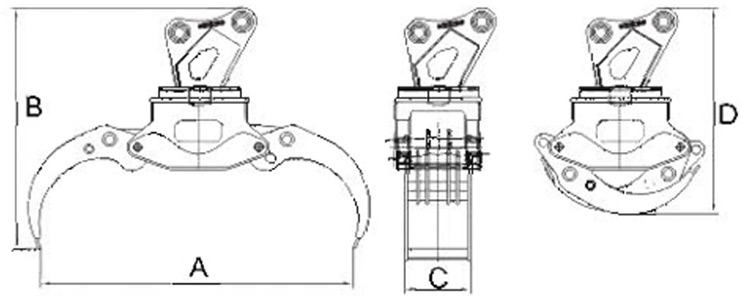 cad-drawings-of-excavator-wood-grapple
