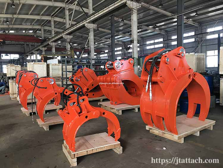 hydraulic-grapple-for-Handling-rocks-stones-logs-wood-timber