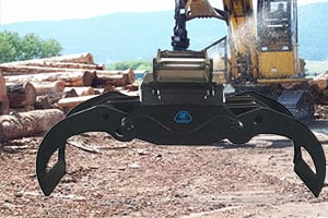 rotating-timber-grab-excavator-timber-grappling-machine