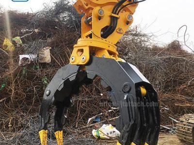 scrap-handling-grapple-rock-grapple-rotating-stone-grapple-JIANGTU-Excavator-attachment