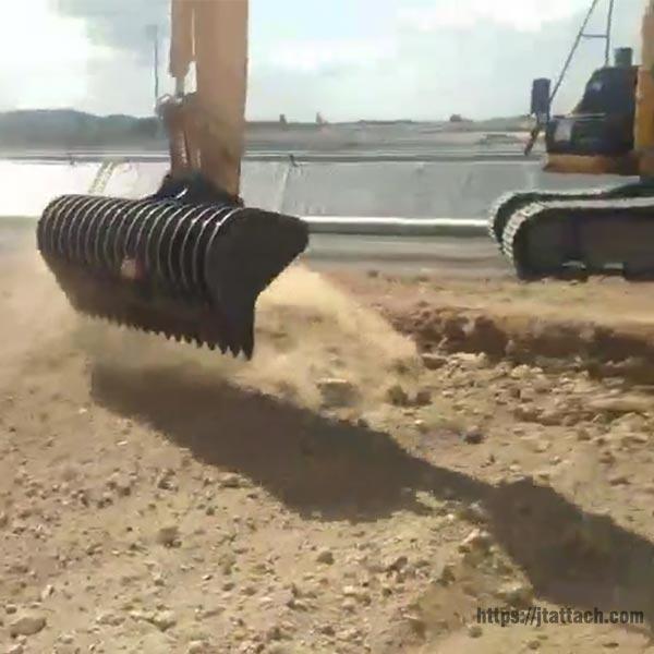 excavator-root-rake-JIANGTU-excavator-rake-attachment-application