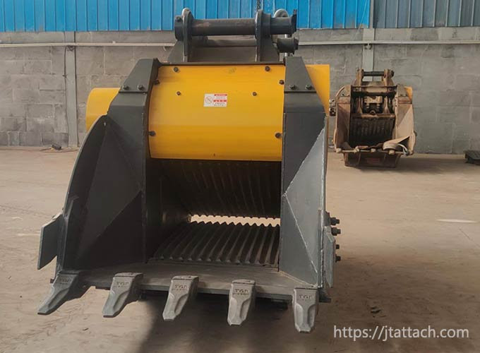best-stone-crusher-bucket-for-waste-recycling-JIANGTU-excavator-attachment