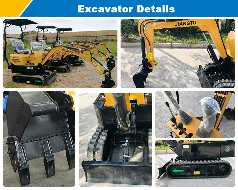 details-of-small-excavator-0.8ton-micro-excavator-in-China