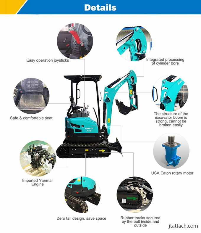 JT18-mini-digger-partsdetails-JIANGTU-micro-excavator