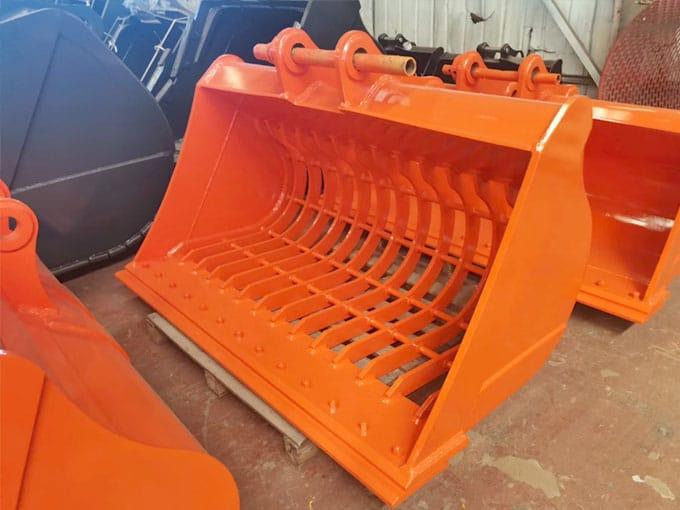 Cat-E345-Excavator-skeleton-bucket-screen-bucket-for-sale-JIANGTU-attachments